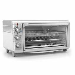 "Extra Wide Crisp 'N Bake Air Fry Toaster Oven Fits 9"" x 13"""
