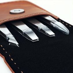 Eyebrow Tweezers Set with Case Tweezer Splinters Ingrown Hai