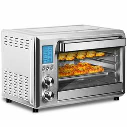 Family-Size Deluxe Convection Toaster Oven Broiler, Brushed