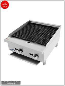 ATOSA Grill:HD 24-in Char-Rock Broiler - 70,000 BTU NG/LP -