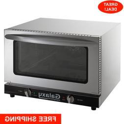 Half Size Countertop Convection Oven 120V Dial Glass 1600 Wa