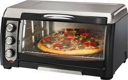 Hamilton Beach - Convection Toaster/Pizza Oven - Black/Stain