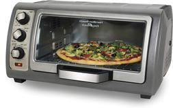 Hamilton Beach Countertop Toaster Oven, Easy Reach With Roll