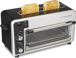 HB Two Slice Toaster Blk Silve
