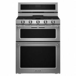 kfgd500ess double oven gas freestanding