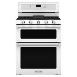 KITCHENAID KFGD500EWH Double Oven Gas Freestanding Range, 6.