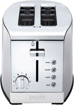 KRUPS KH732D50 2-Slice Toaster, Stainless Steel Toaster, 5 F