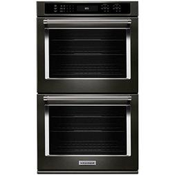 KitchenAid KODE500EBS 30 Black Stainless Convection Double W
