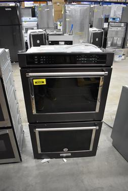 """KitchenAid KODE500EBS 30"""" Black Stainless Double Wall Oven N"""