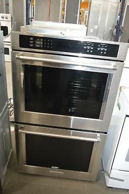 """KitchenAid KODE500ESS 30"""" Stainless Double Wall Oven NOB #35"""