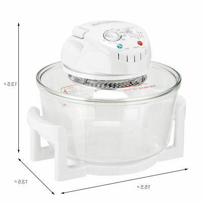 12.68-18 Quart Infrared Halogen Cooker Glass Bowl