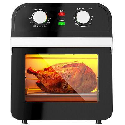 12 7qt air fryer oven 1600w rotisserie