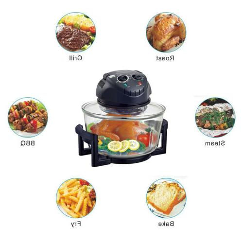 12-17Quart Infrared Halogen Turbo Convection Oven Fryer Fat