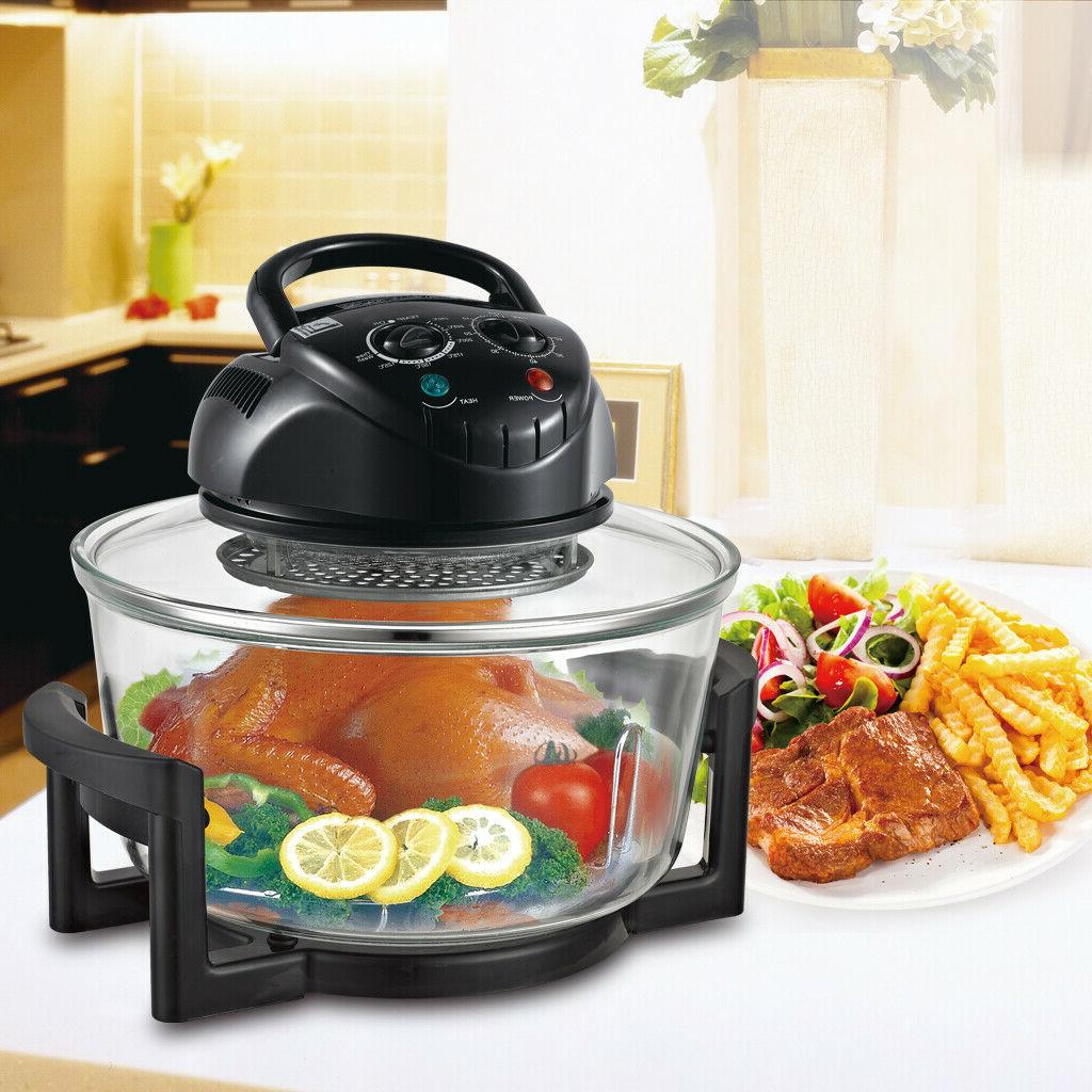 1200W 17 Wave Oven Halogen Convection Air Toaster Fryers US