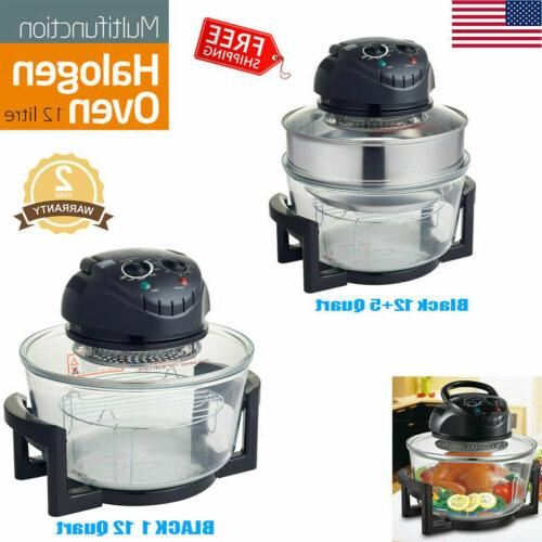 1200w 17 quart countertop wave oven halogen