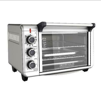 2 Shelf Toaster Convection Countertop Oven Stainless Steel E