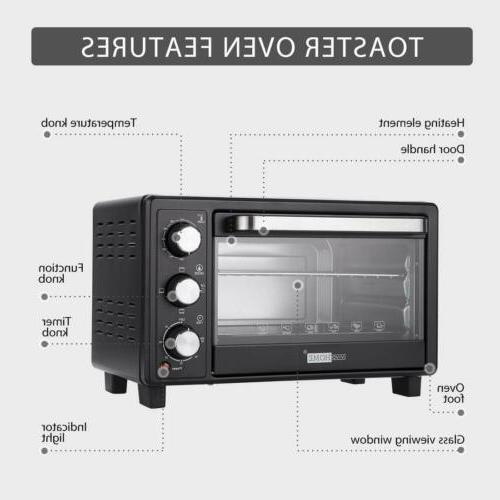 VIVOHOME Slice Toaster Oven Broiler Pizza