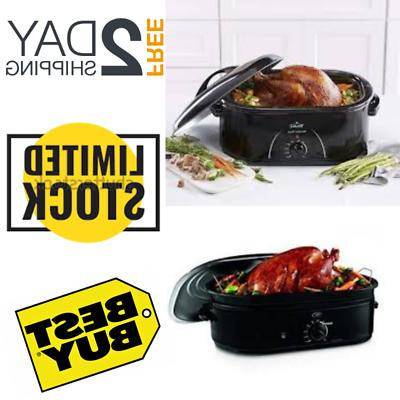 18 qt roaster oven convection self basting