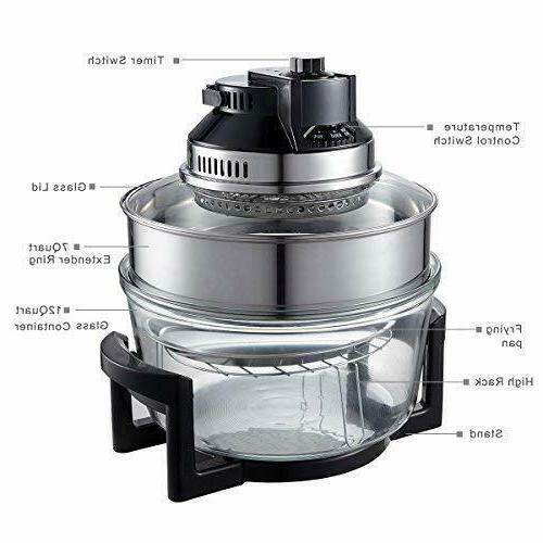 2-in-1 Free Air Fryer RIGHT Halogen Convection