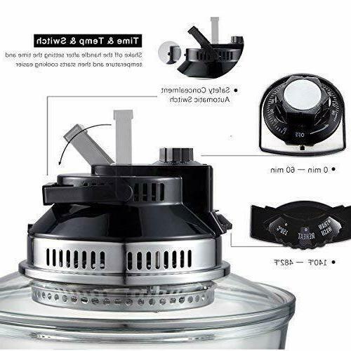 2-in-1 Oil Air Fryer Oven Halogen Oven