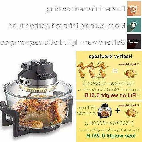 2-in-1 Oil Free Air Fryer Infrared Halogen