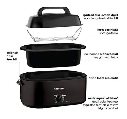 Chefman Quart Oven Cooker Lid Cooking and More,