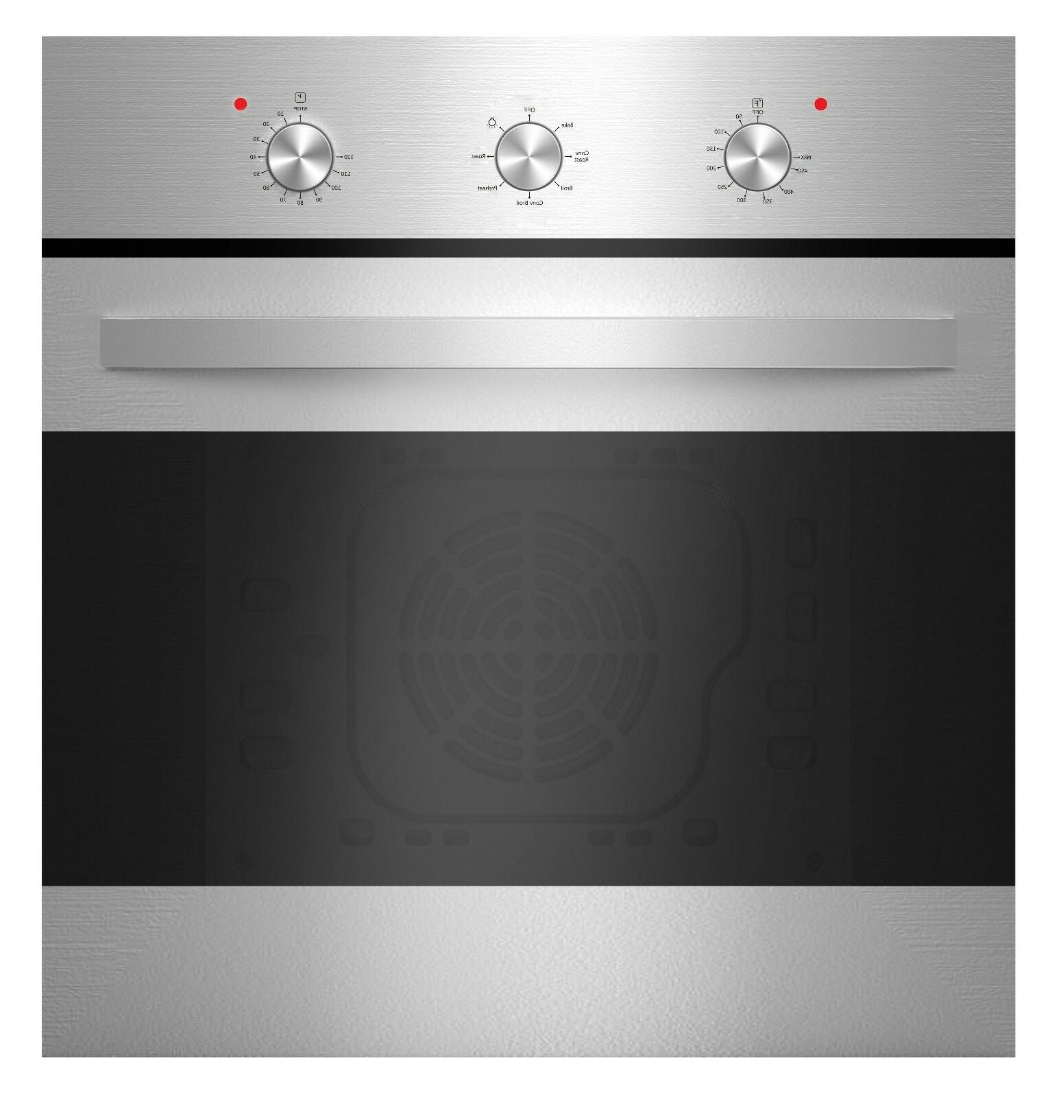 24 stainless steel electric built in convection