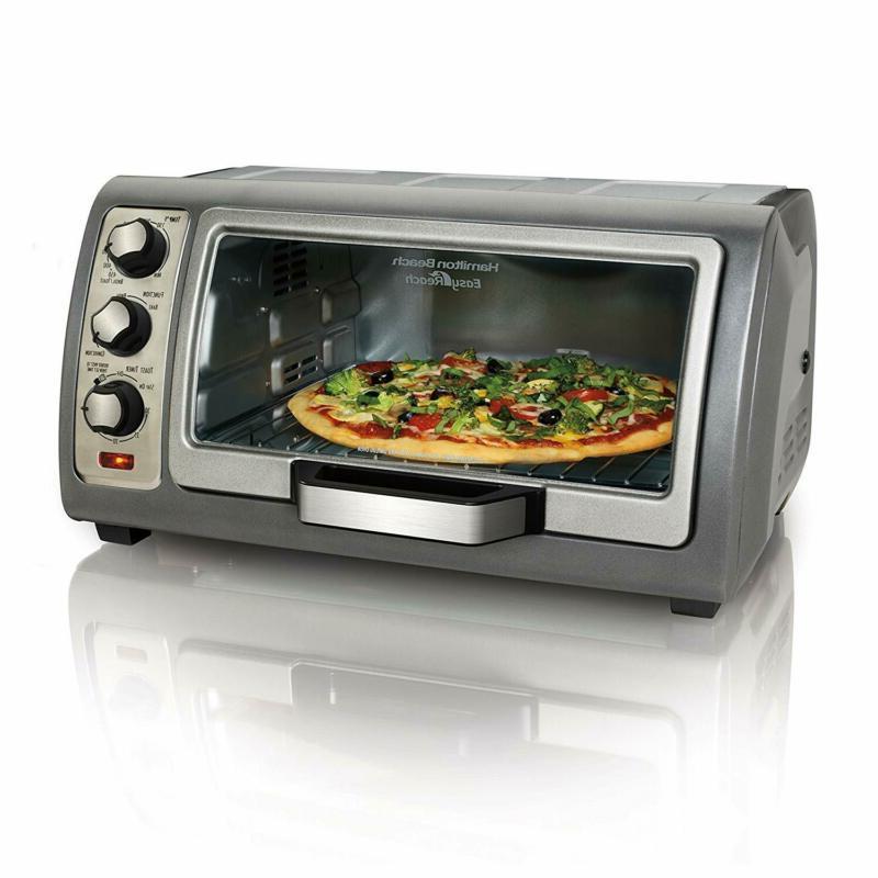 Hamilton Beach 31123D Easy Reach Toaster Oven Silver