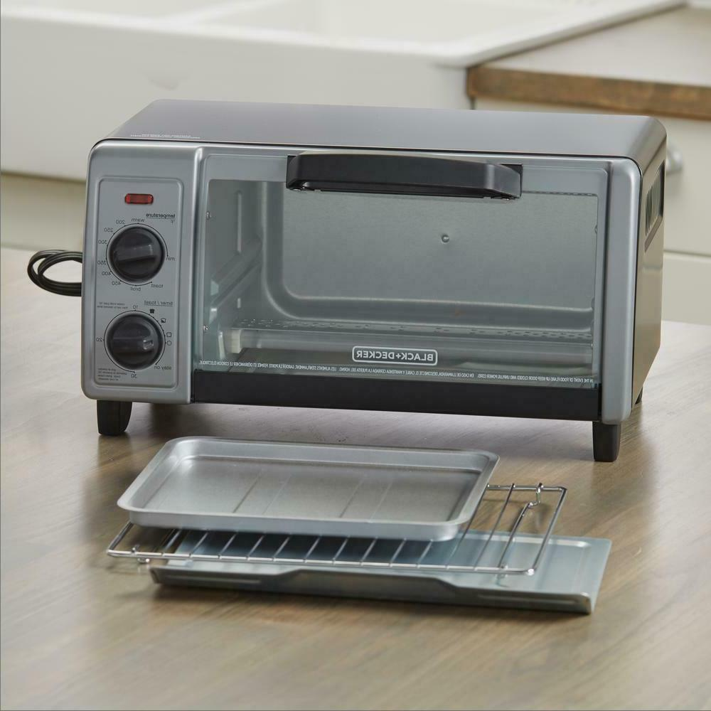 4-Slice Toaster Oven 4 Functions with Temperature Control Tray