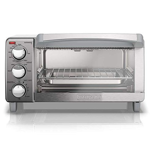 BLACK+DECKER 4-Slice Oven with Natural Stainless Steel, TO1760SS