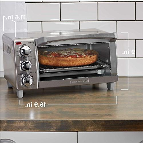 BLACK+DECKER 4-Slice Oven with Steel, TO1760SS