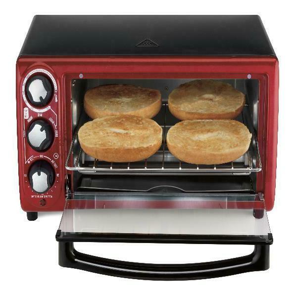 Hamilton Beach Slices Toaster Convection/Broiler Oven Auto Shutoff Red