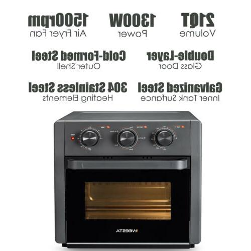21 QT 5-IN-1 Fryer Toaster Countertop Convection