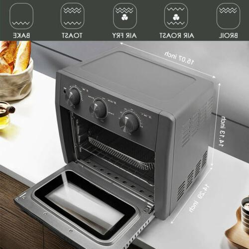 21 QT 5-IN-1 Fryer Toaster Countertop Oven Gray
