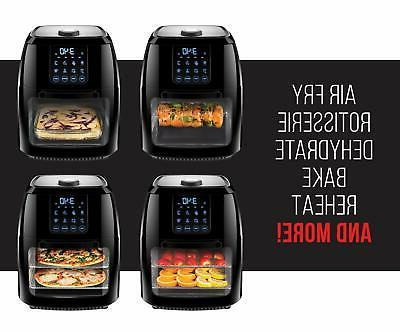 Chefman 6 Fryer+ Rotisserie Oven 8 to Fr...
