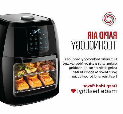 Chefman Liter Digital Fryer+ Rotisserie Convection 8 Presets Fr...
