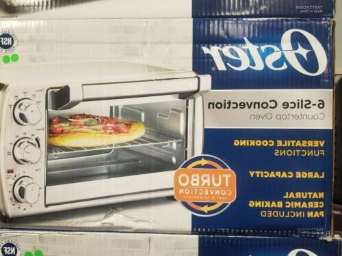 6 slice convection countertop oven new