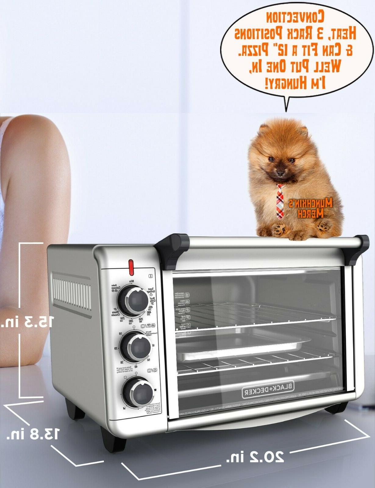 6 slice convection countertop toaster oven silver