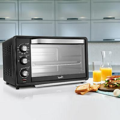 "6-Slice Convection Oven 19L Countertop Bake/Broil/Toast 12"" Pizza"
