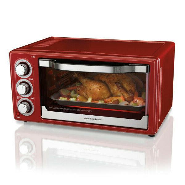 Hamilton Beach 6 Slice Toaster Convection/Broiler Oven, Red