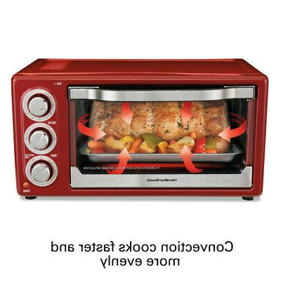 Hamilton Beach Toaster Convection/Broiler Oven Red Model#