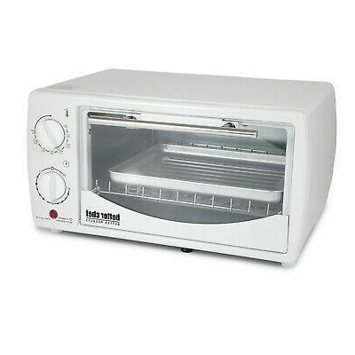 9 liter toaster oven broiler white
