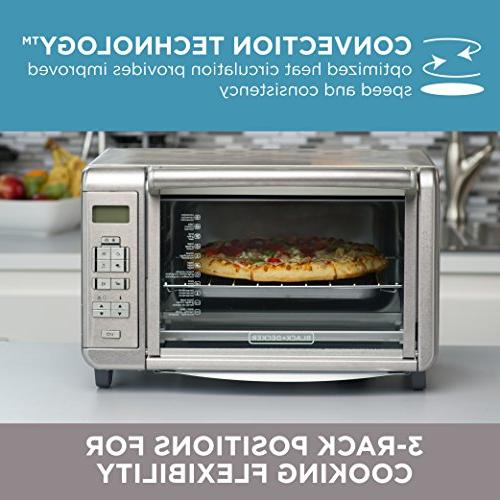BLACK+DECKER Convection Countertop Toaster Oven, Stainless Steel,