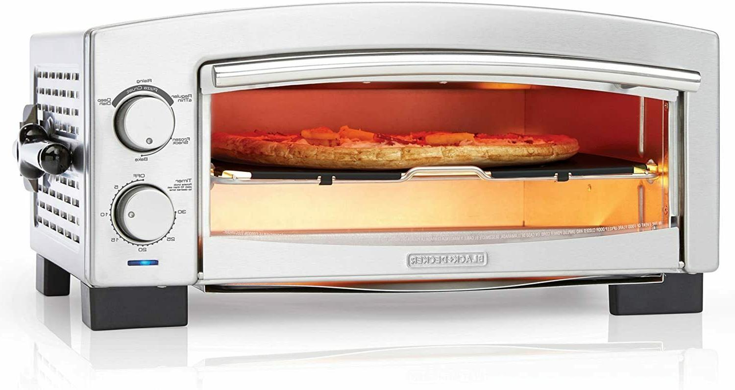 BLACK+DECKER P300S Oven & Maker, Toaster Oven, Stainless Steel, Silver