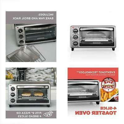 BLACK+DECKER TO1313SBD 4-Slice Toaster Oven Black