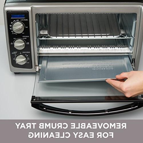 BLACK+DECKER TO1675B Countertop Bake Pan, & Steel/Black Convection