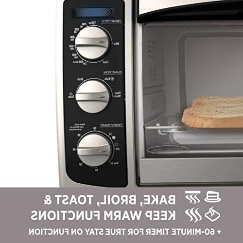 BLACK+DECKER Countertop Oven, Bake Pan, Rack &