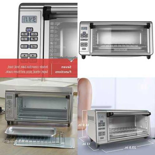 BLACK+DECKER TO3290XSD TO3290XSBD Toaster Oven 8-Slice Stain