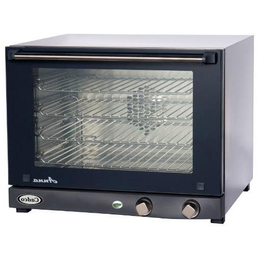Cadco OV-023 Compact Half Size Convection Oven with Manual C