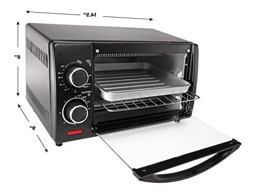 Chefman Slice Toaster Oven w/ Variable Temperature 30 Minute to Broil, and Warm Black